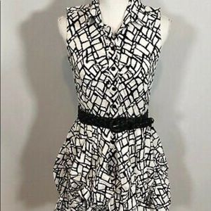 BXC Black And White Sleeveless Dress.